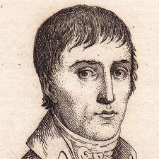 Portrait XIXe Lucien Bonaparte Napoléon Premier Empire Corse 1821