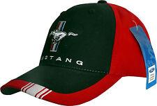 Ford Mustang Cap, original + lizenziert, 1a Qualität, Basecap, 2017, red/blk.