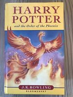 HARRY POTTERY AND THE ORDER OF THE PHOENIX ROWLING FIRST EDITION BOOK