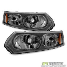 Black 2003-2007 Saturn ION Sedan Factory Style Headlights Headlamps Aftermarket