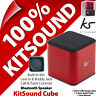 KitSound Cube Bluetooth Portable Pocket Speaker Wireless Rechargeable Mini MP3