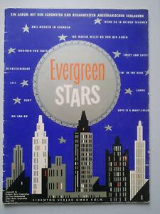 Evergreen Stars Sidemton Verlag Köln Amerikanische Schlager f. Klavier Akkordeon