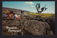 c1965 Nani Li'i Puu Loa Petroglyph Big Island Hawaii National Park postcard