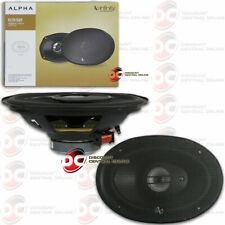 INFINITY ALPHA 6x9 INCH 3-WAY CAR AUDIO COAXIAL SPEAKERS PAIR 490 WATTS