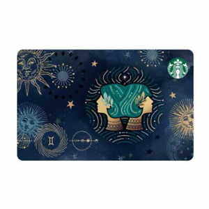 STARBUCKS Taiwan 2021 Constellation Gemini Gift Card Collection Card