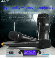 Wireless Microphone System Display with Dual 2 Channel w/2 Handheld Karaoke Mic