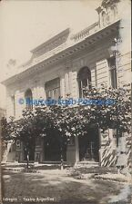ARGENTINA THEATRE BUENOS AIRES ADROGUE TEATRO ARGENTINO REAL PHOTO 1928