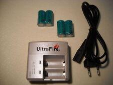 UltraFire CREE XML wf-138 cargador con 4x cr123a rcr123a 3,0 voltios baterías