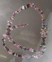 Multicolored Tourmaline Gemstone freeform Chip Beads Strand crafting jewelry