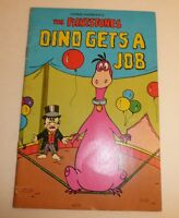 Vtg 1974 The Flintstones Dino Gets A Job Paperback Children's Book Hanna Barbera