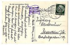 DR, 1934, 3.9. Schiffspost MONTE OLIVIA Hamburg-Südamerika, Norwegenfahrt, AK