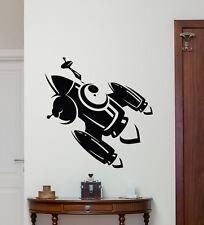 Rocket Wall Decal Space Ship Spaceship Vinyl Sticker Nursery Decor Mural 89xxx