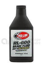 Red Line RL-600 DOT 4 Full Synthetic High Performance Brake Fluid 473ml 16oz