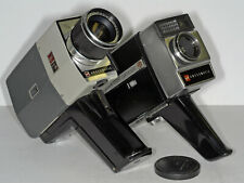 Two GAF ANSCOMATIC Super 8 Movie Cameras *Clean, Running!