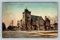 Lansing MI, Central Methodist Evangelical Church Vintage Michigan c1910 Postcard