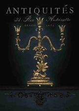 Arnie Fisk: Antiquites Fertig-Bild 40x50 Wandbild Barock Deko Kerzenständer