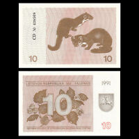 Lithuania 10 Talonas, 1991, P-35b, banknote, UNC