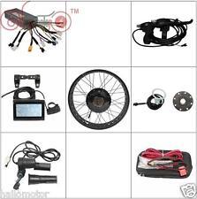 """Black 48v 1500w 26"""" Fat Bike Fat Tire Rear Wheel Ebike Conversion Kit Sine Wave"""
