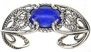 Carolyn Pollack Lapis Sterling Silver Size Average Wrist Cuff