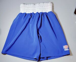 Team USA Boxing Shorts Size Large Blue with White Trim
