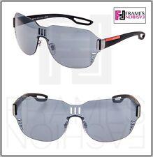 bc5655557f PRADA PR 05ss 5av-5l0 Black Rubber Frame Dark Grey Lens Sunglasses 44