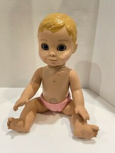 Luva Bella Interactive Talking Baby Doll Moves Spin Master Soft Face Works!