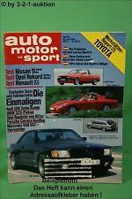 AMS Auto Motor Sport 15/84 Bitter Roadster Nissan Silvia Audi 200 Toyota