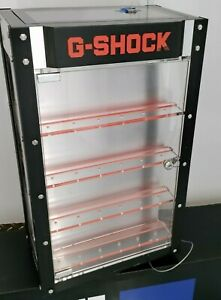 Authentic Casio G-Shock Rotating Two Sided Watch Case Display Locking with Keys!