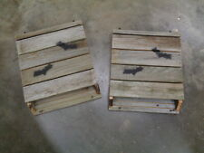 2 Bat House Nesting Boxes All Natural Reclamed Silver Weathered Lumber Usa
