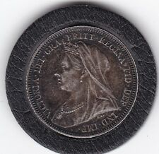 Sharp  1893   Queen   Victoria   Sterling   Silver  Shilling  British Coin