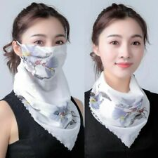 Lightweight Face Mask Silk Scarf Sun Protection Outdoor Riding Handkerchief Prot