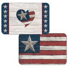 Americana Faith Family Freedom Decofoam Reversible Plastic Placemat Set ~ Set/4
