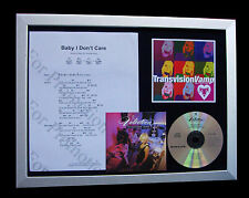 TRANSVISION VAMP Baby Don't Care TOP QUALITY CD FRAMED DISPLAY+FAST GLOBAL SHIP