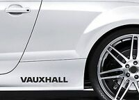 2x Side Skirt Stickers fits Vauxhall Astra Corsa Graphics Premium Decals BL106