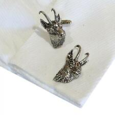 Silver Pewter Goats Head High Quality Cufflinks Handmade in England Goat