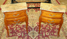 Amazing Pair of Early 20th Century Italian Marble Top Night Stand Side Tables