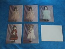 Set Of 5 New Vintage Das Steiner Doll Pictured Note Cards