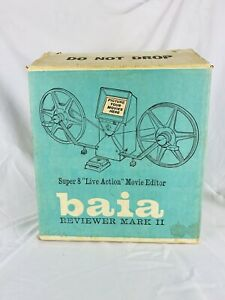 Vintage Baia Reviewer Mark II Super-8 Movie Film Editor w/ Lots of Extras