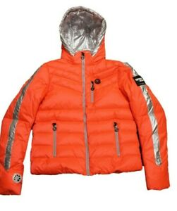Sportalm Kitzbühel Women's Ski Jacket Tinda Orange Silver Size 36 S NEW