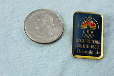 DISNEYLAND LAPEL PIN OLYMPIC TEAM SALUTE 1988