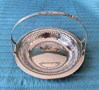 Antique Victorian Meriden International Silver Company Silver Plate basket #0652