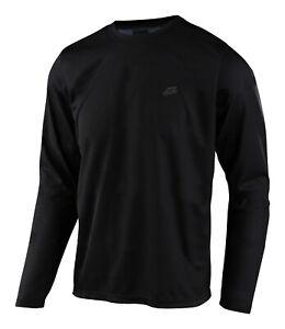 Troy Lee Designs MTB Men's Flowline Jersey LS Solid - Black
