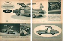 1962 FORD COUGAR SHOW CAR 406 HIGH-PERFORM V8 ~ ORIGINAL 2-PAGE ARTICLE / AD