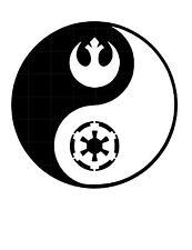 Star Wars YING YANG Sticker Vinyl Decal Car Laptop Window Oracal rebel empire