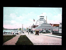 c.1910 Merry Go Round & Ferris Wheel Lake Ave. Asbury Park NJ post card
