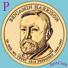 2012-P BENJAMIN HARRISON GOLDEN PRESIDENTIAL DOLLAR FROM MINT ROLL UNCIRCULATED