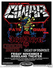 "GWAR ""FATE OR CHAOS TOUR"" 2012 PORTLAND CONCERT TOUR POSTER - Heavy Metal Music"