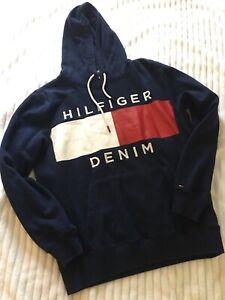 Tommy Hilfiger hoodie men medium Blue and Red