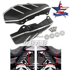 Pair ABS Engine Air Deflectors Heat Shield Trim for Harley Touring 09-up US