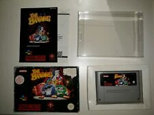 Nintendo SNES The Brainies with manual, boxed 0.5mm box protector 100% complete